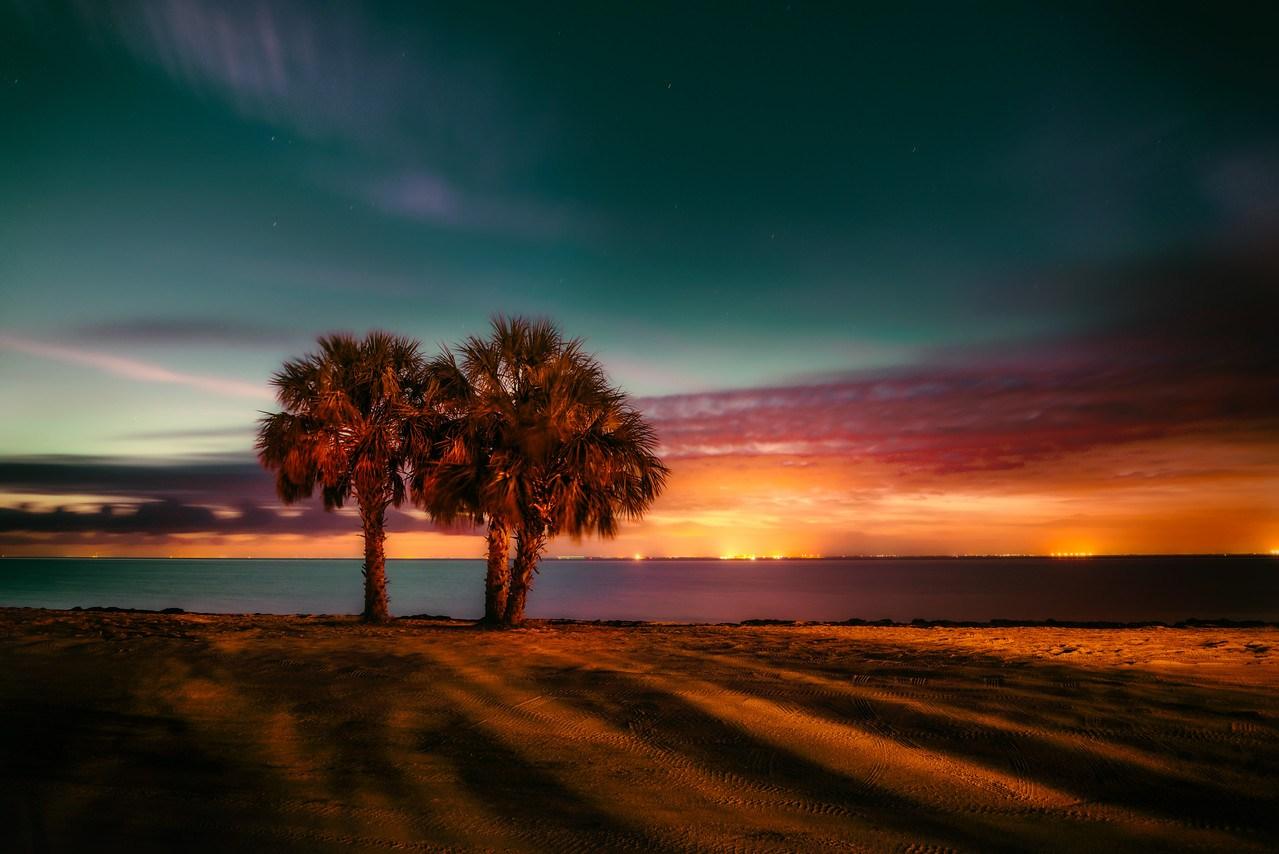 Early Twilight Along the Sunshine Skyway