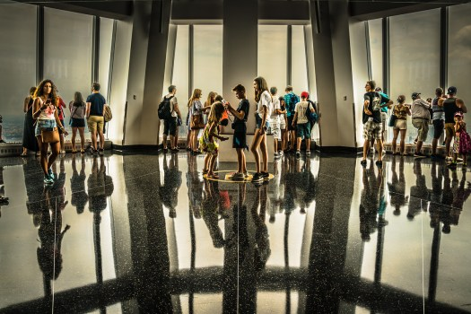 People at One World Observatory