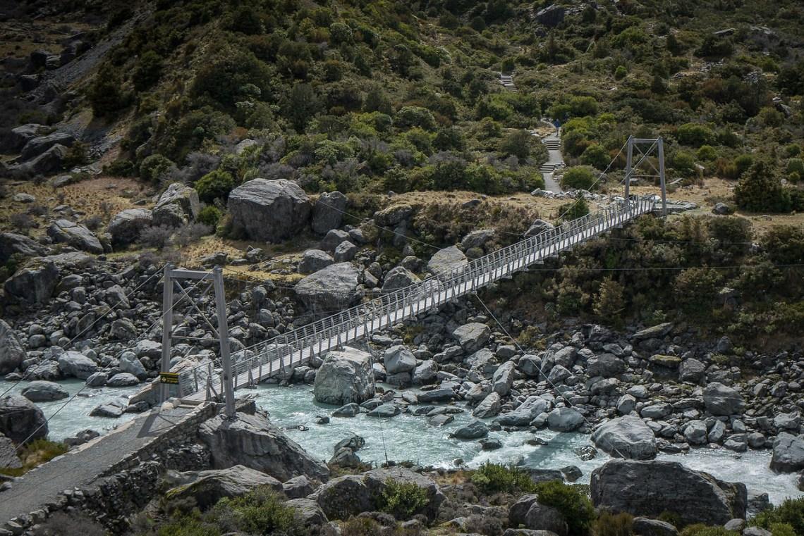Suspension bridge on Hooker Valley Track