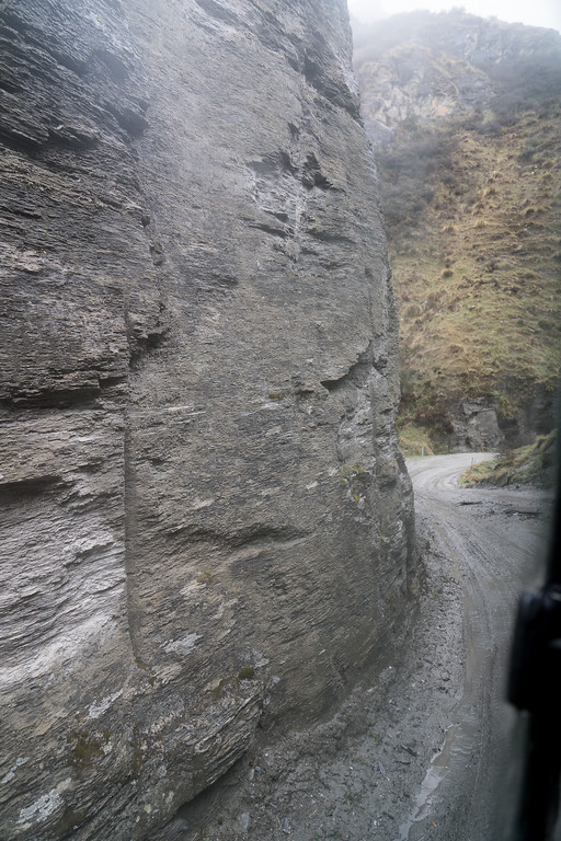 The Skippers Canyon road is cut right through the cliff face