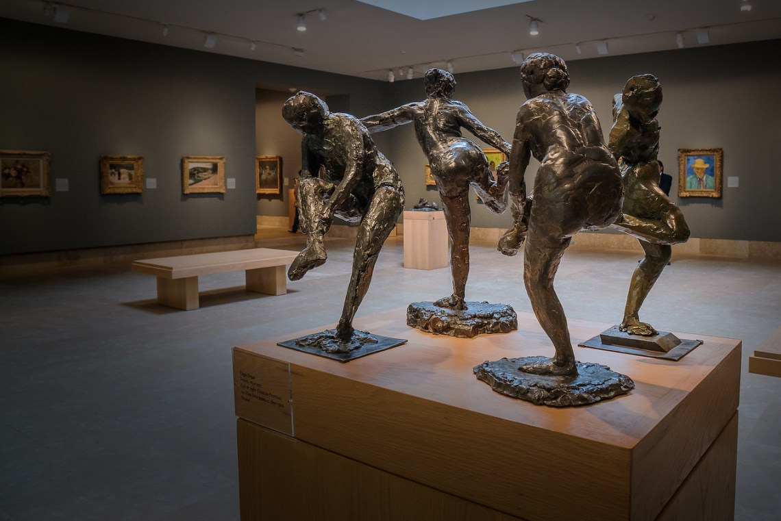 Degas bronze sculptures in 19th and 20th century gallery