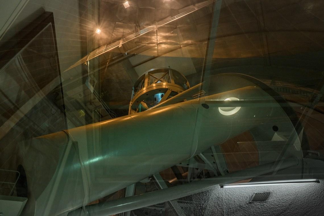 Interior of Hale Telescope at Palomar Observatory
