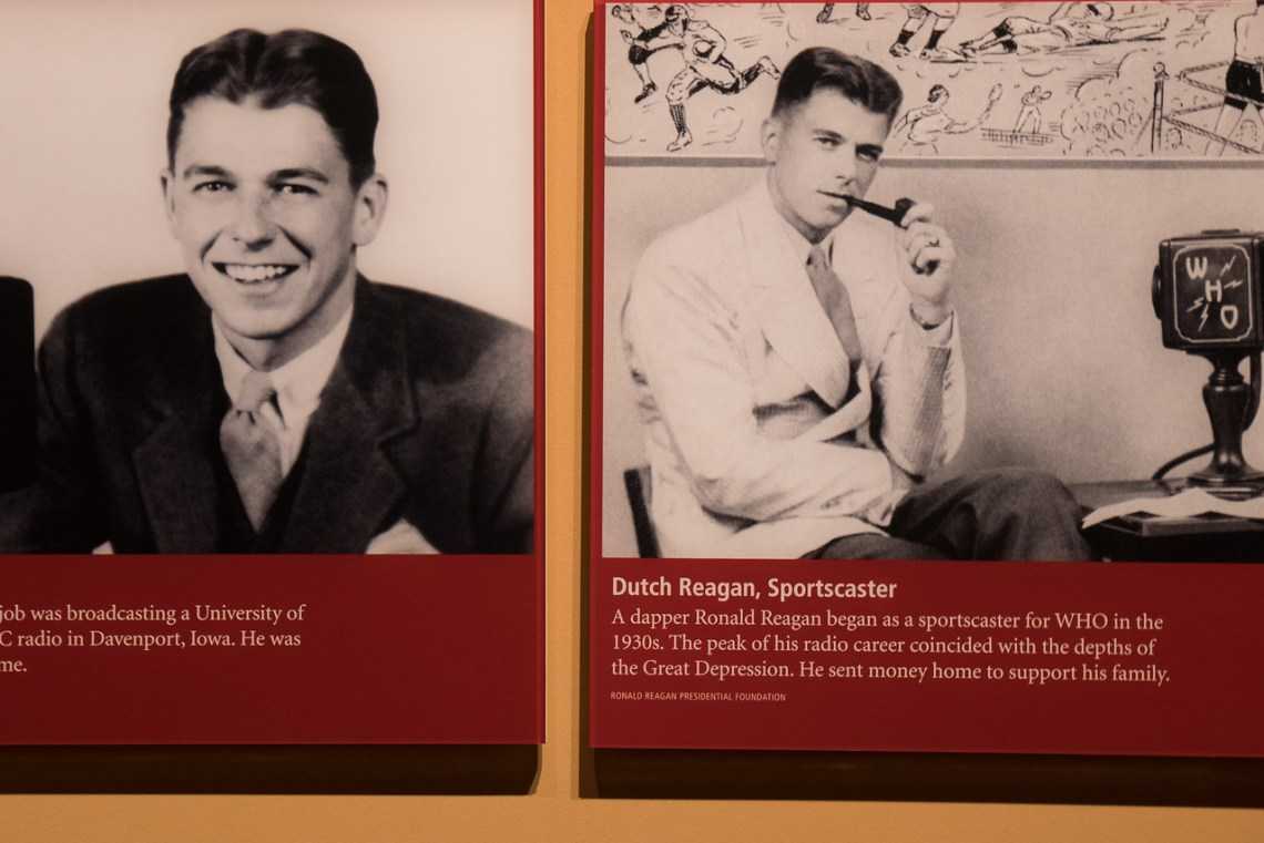 Signs show Reagan's early days in radio