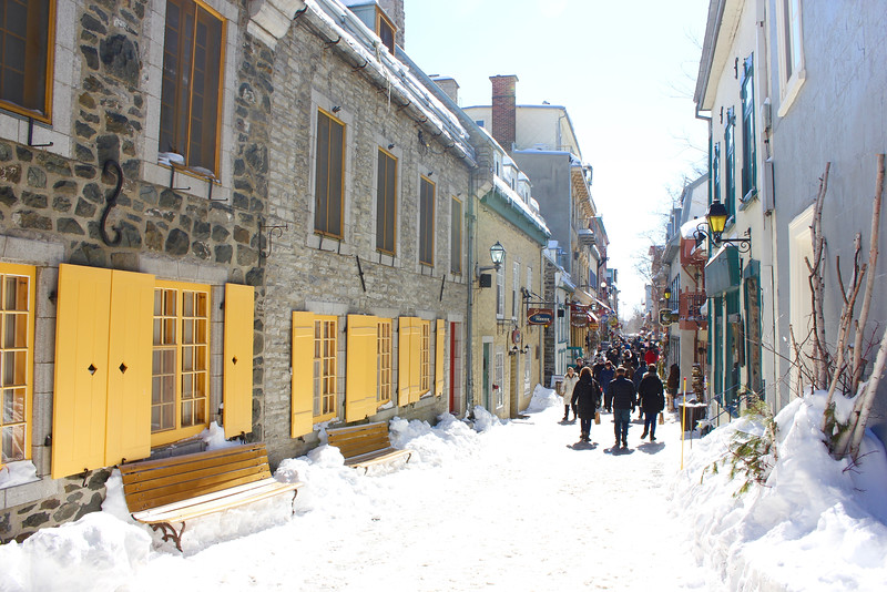 a street in the Upper Town section of Quebec City