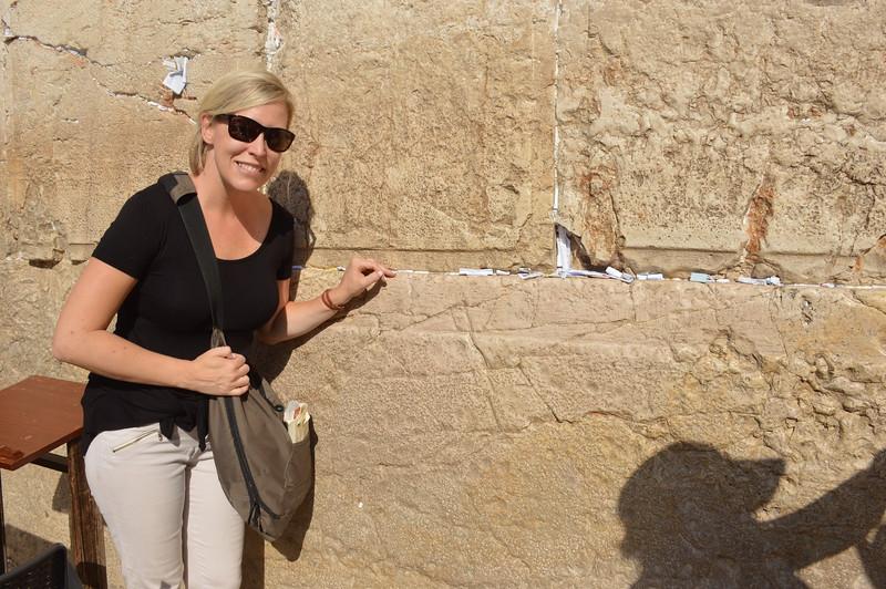 Kristin Winet at wall