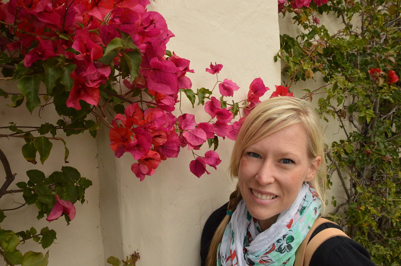 Kristin Winet with flowers