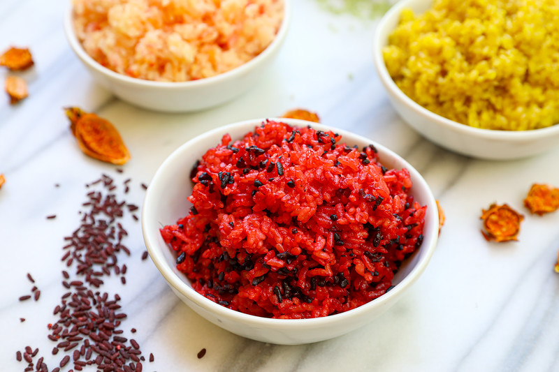 Rainbow Rice (All Natural) Recipe & Video