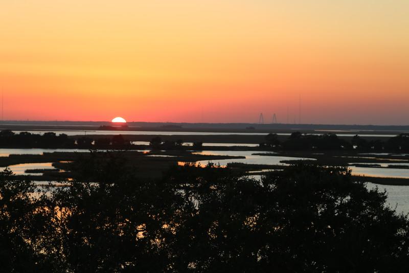 sunset from deck at 122 Lake Timicau