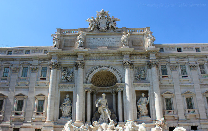 The Trevi Fountain Against Clear Blue Skies