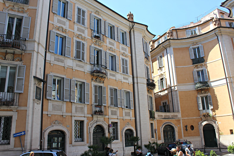 A beautiful little square we passed on the way to the Trevi Fountain