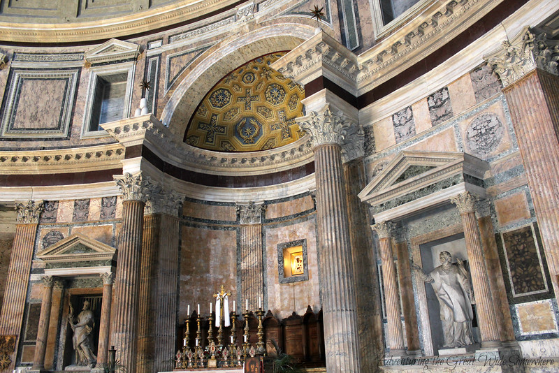 A small chapel inside the Pantheon, Rome, Italy