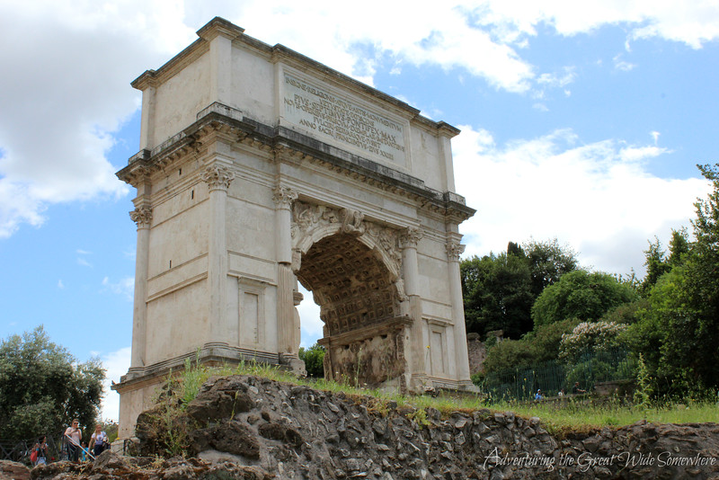 The Arch of Titus at the Roman Forum. Rome, Italy.
