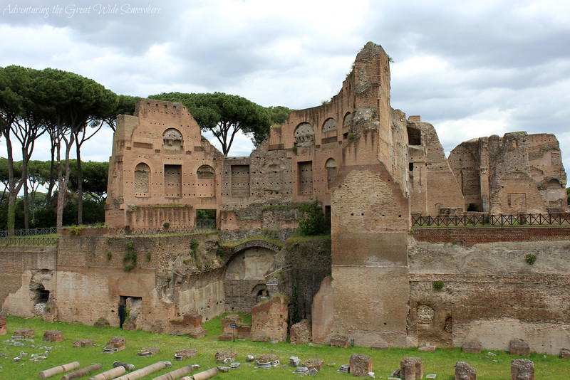 Remains of the Palatine Hill in Rome, Italy