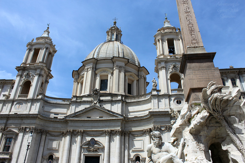 The church anchoring Piazza Navona in Rome, Italy