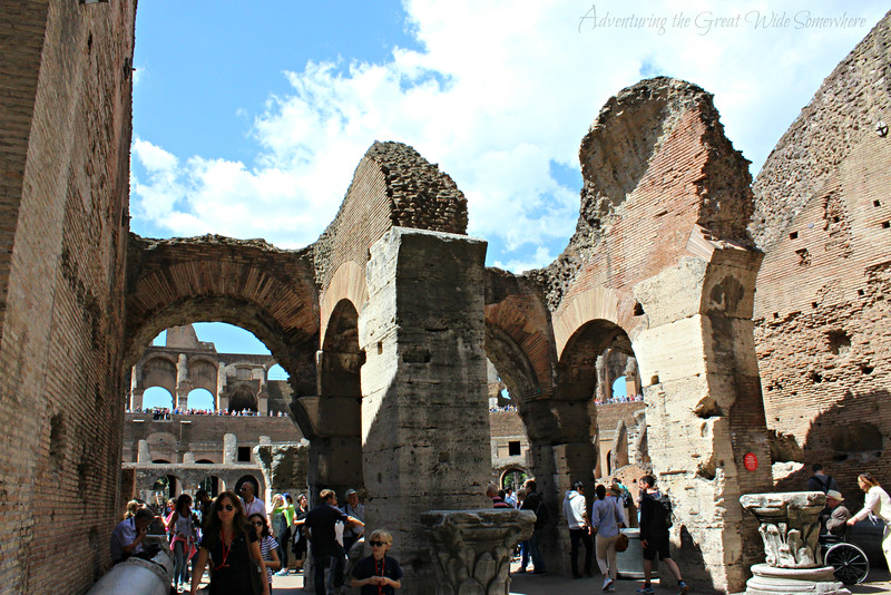 Arches of the Colosseum, now crumbled into ruin