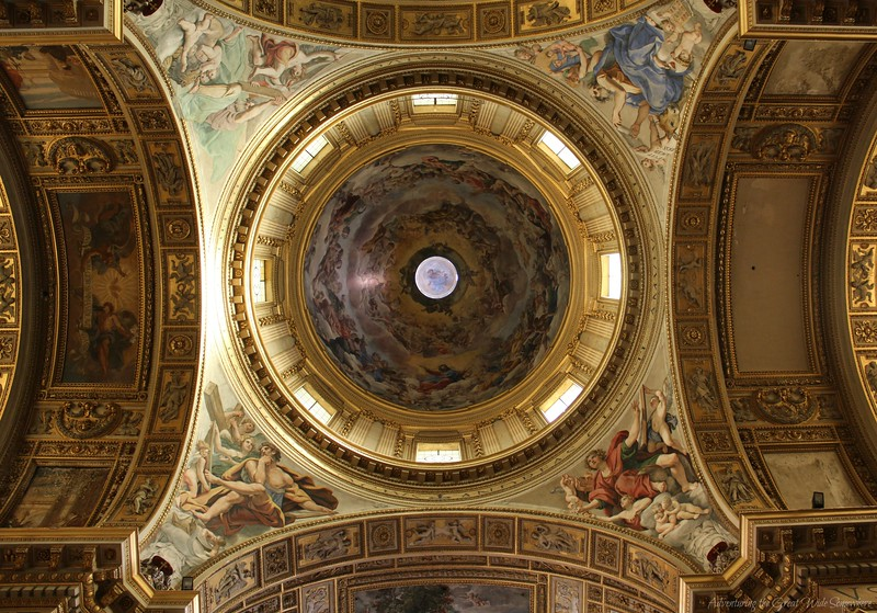 One of the Domes of the Church of Sant'Andrea della Valle in Rome, Italy
