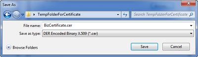 Save As File Name for Certificate