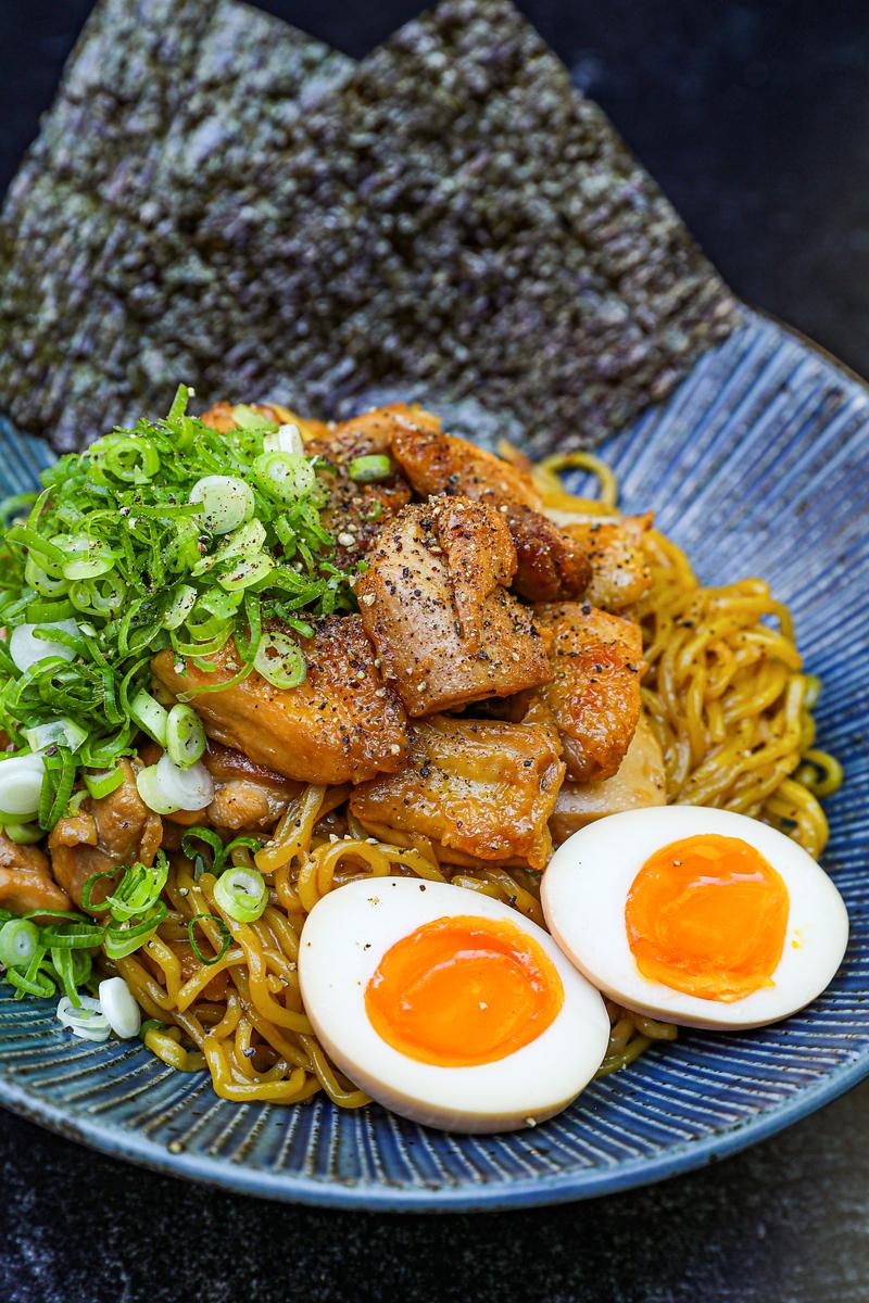 Easy Soy Garlic Chicken Ramen Recipe & Video