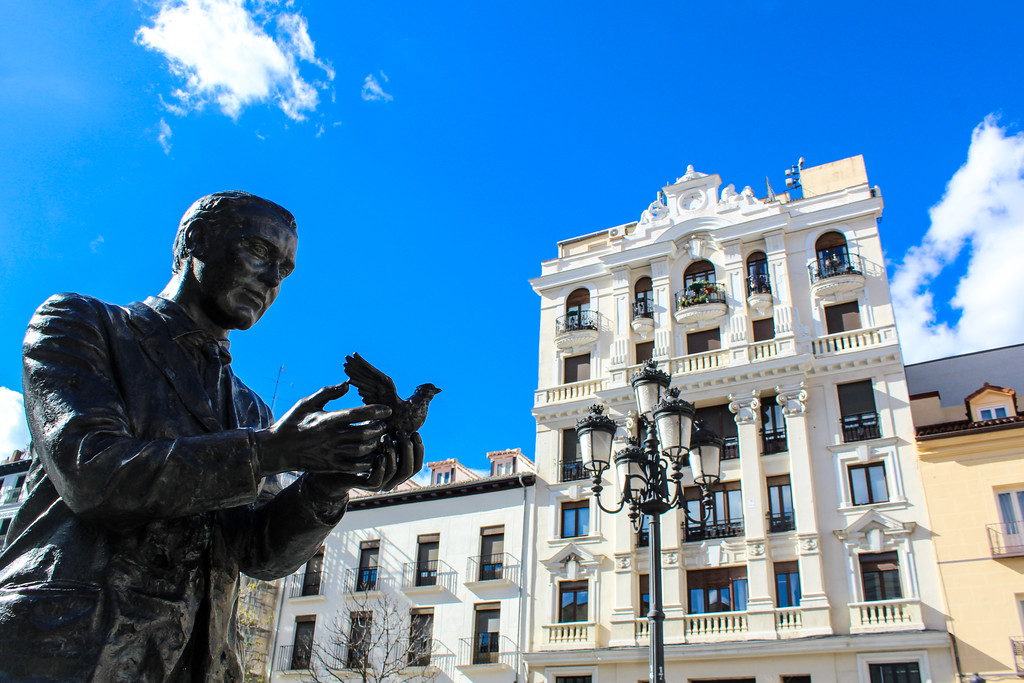 Enjoy the many squares when taking a solo trip to Madrid