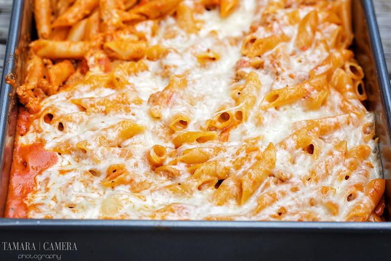 Cheesy One Pot Baked Turkey Ziti.