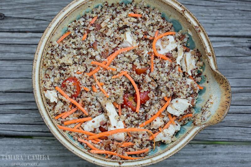 Chicken Bacon Quinoa Salad.