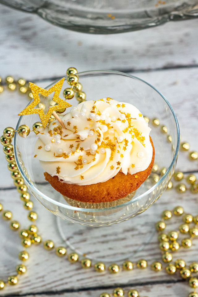 Make Champagne Cupcakes for a festive and family-friendly way to toast in another New Year. These are perfect for New Year's gatherings.