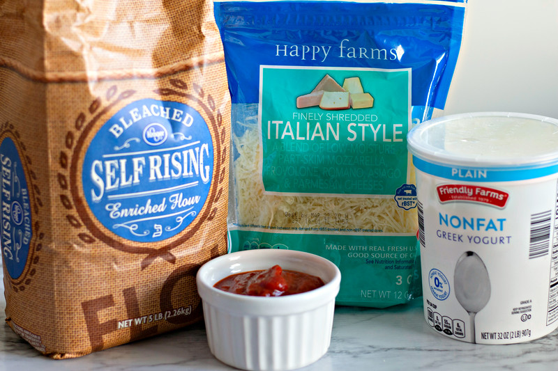 ingredients for easy homemade pizza