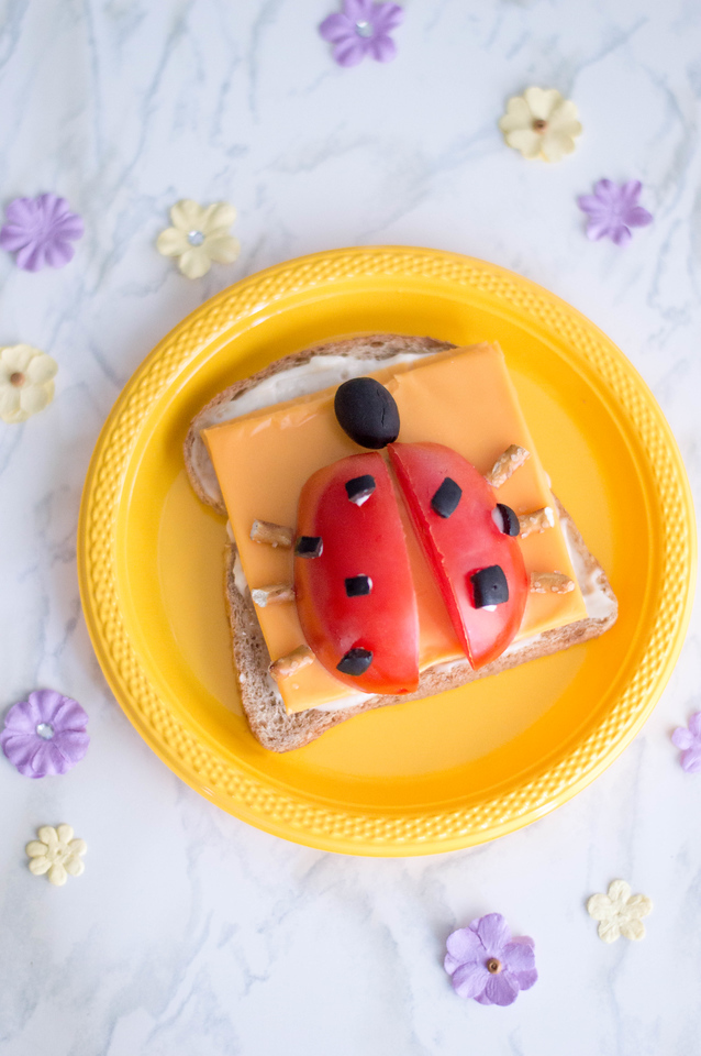 During these uncertain times at home, one thing we do to make things fun and consistent for kids is to make school lunch ideas for home, like this sandwich!