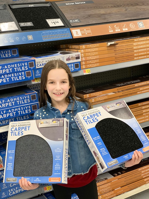 #ad DIY Flooring for 2020! Achim Home Décor has a wide variety of floor and wall products available at Walmart: www.achimhomedecor.com #AchimHomeDecor #IC