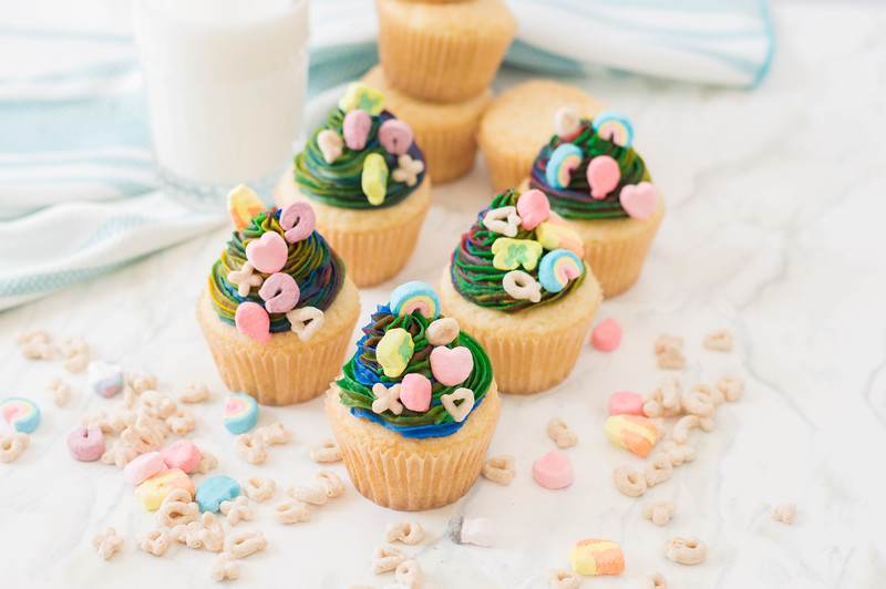 Lucky Charms Cupcakes St Patrick's Day 2020