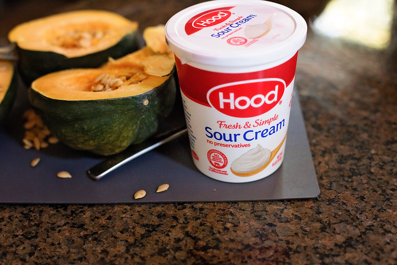 #ad Make this Acorn Sausage with Sour Cream Drizzle for the holidays this year. Hood Sour Cream adds a special touch to recipes. #TouchOfHood #IC