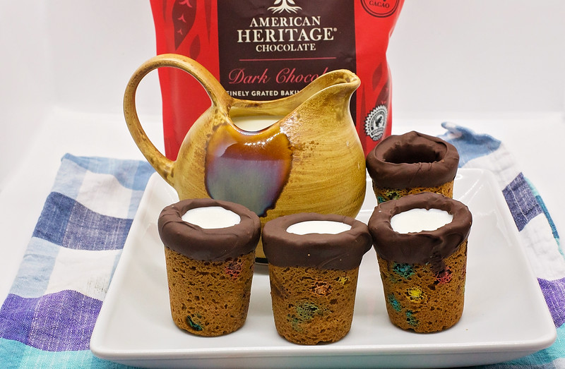 #ad This Cookie Cups recipe is fun to bake together for back to school, and is fun to eat together too. It uses #AMERICANHERITAGEChocolate #IC