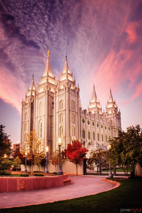 Salt Lake Temple Pink Sunrise