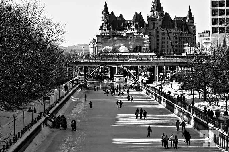 Rideau Canal Is Open For Skating Bw