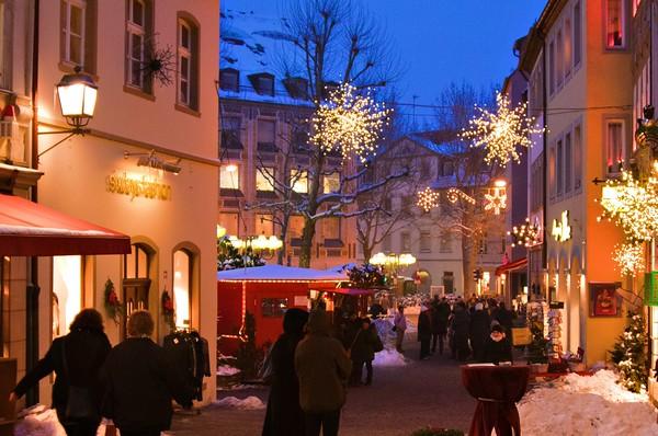 Christmas lights in Bamberg, Germany