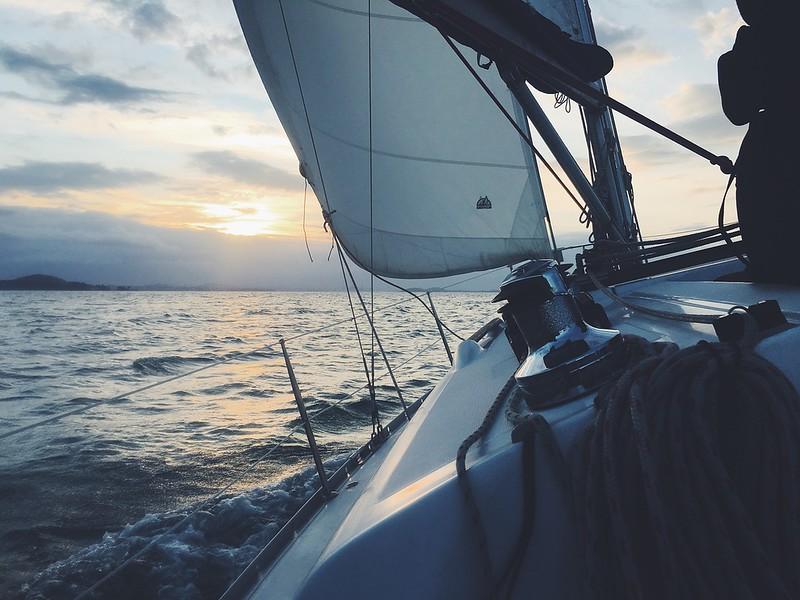 Mediterranean sailboat sailing boat