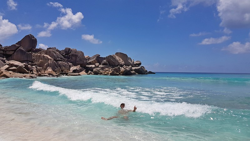 Seychelles - Swimming at Grand Anse
