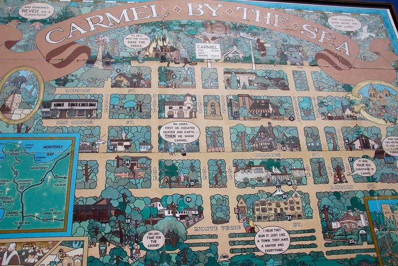 Carmel by the Sea map