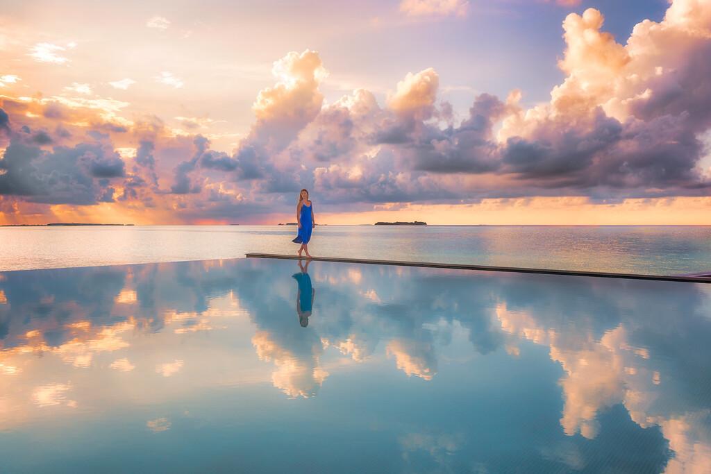 Maldives Infinity Reflection