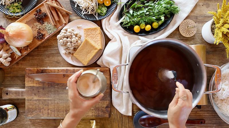 BEST Vegan Pho Recipe, seasoning the broth