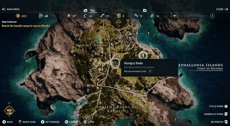 Hungry Gods assassin's creed odyssey kephallonia island