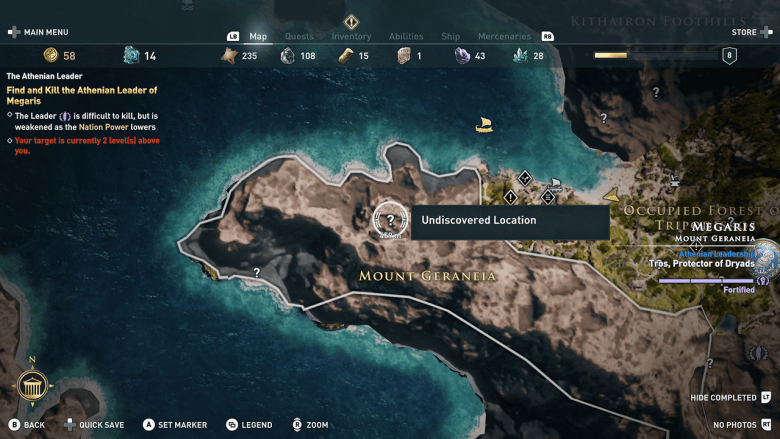 The Athenian Leader nation power megaris Assassin's creed odyssey