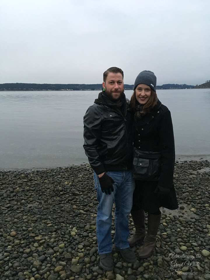 Jen and Gavyn at Titlow Beach in Tacoma, Washington