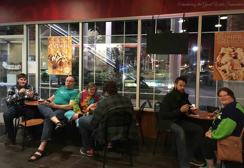 Family Outing to Cold Stone Creamery at Redmond Town Center