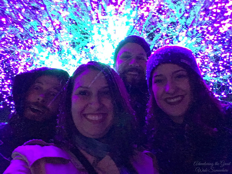Snowy Group Selfie at Zoo Lights at the Point Defiance Zoo