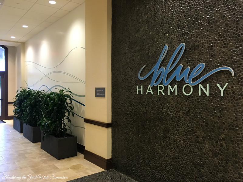 Entrance to the Blue Harmony Spa at the Wyndham Grand Orlando Resort Bonnet Creek