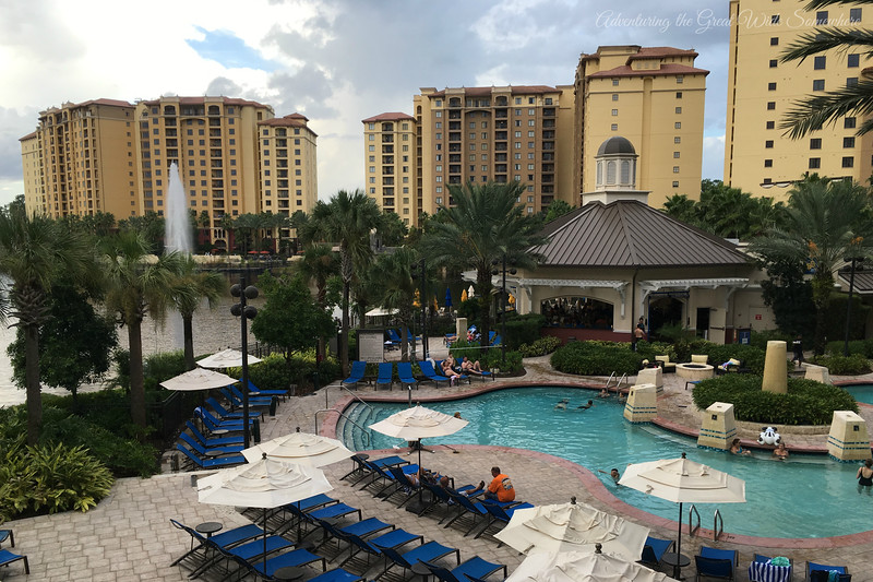 The Pool and Poolside Grill and Bar at the Wyndham Grand Orlando Resort Bonnet Creek