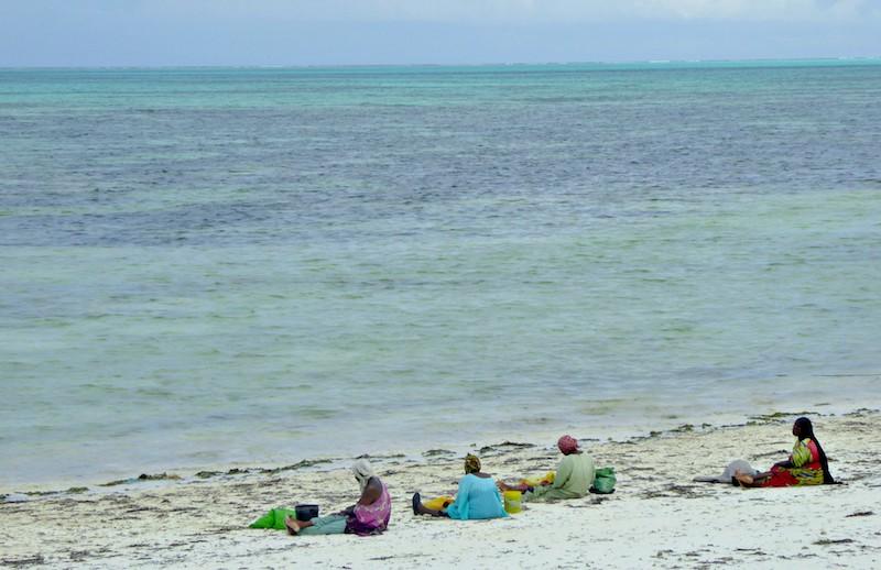 Trip to Zanzibar - women on the beach