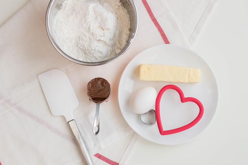 ingredients for Valentine's Day sugar cookies