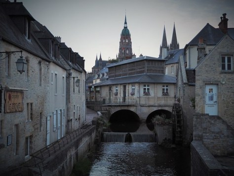 Bayeux at sunset.